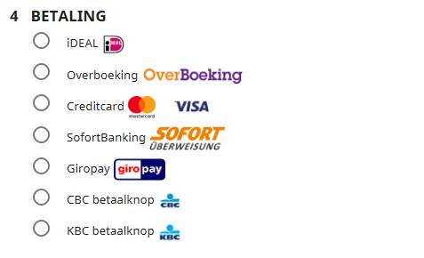 Betaalopties bij GPSKinderhorloges.nl